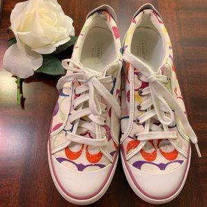 Coach Barrett Multicolor Canvas Sneakers